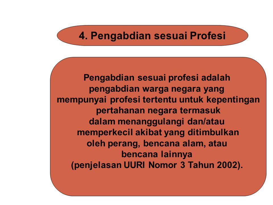 4. Pengabdian sesuai Profesi