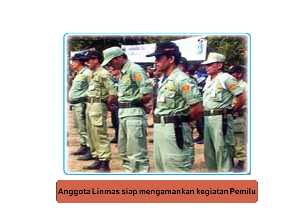 Anggota Linmas siap mengamankan kegiatan Pemilu