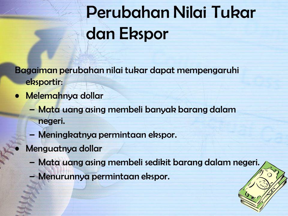 Perubahan Nilai Tukar dan Ekspor