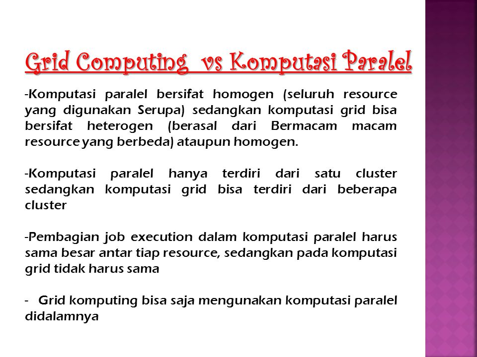 Grid Computing vs Komputasi Paralel