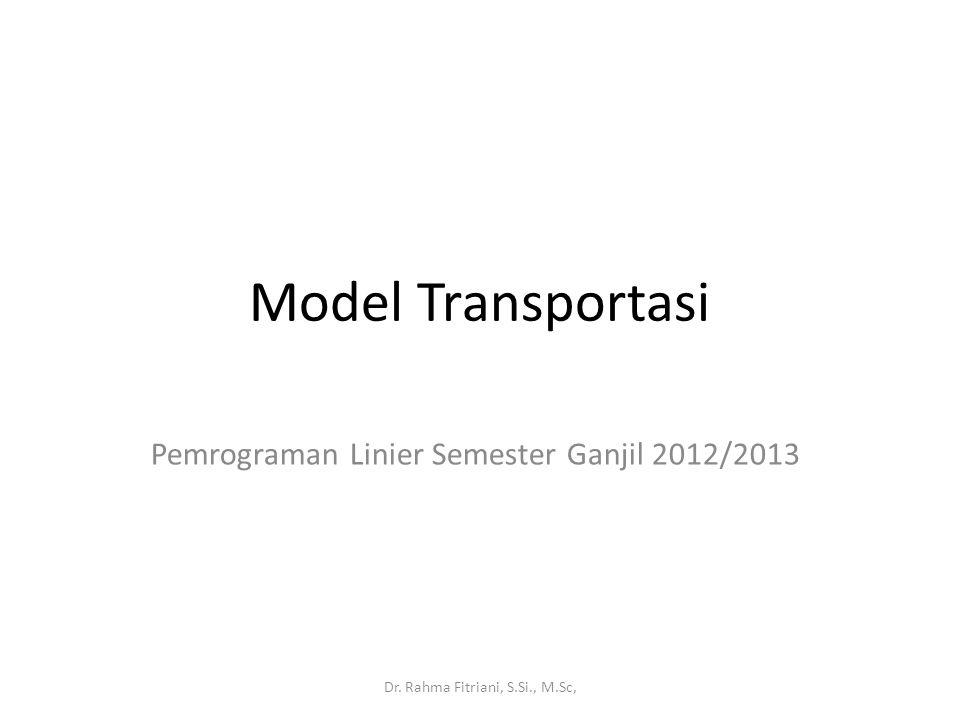 Pemrograman Linier Semester Ganjil 2012/2013