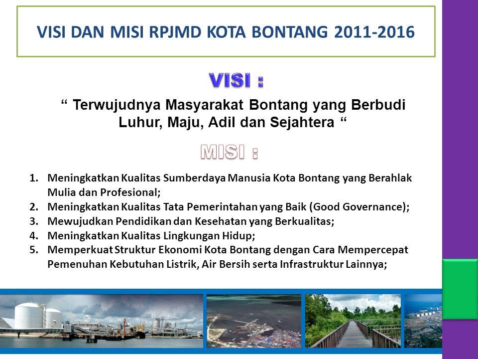 VISI DAN MISI RPJMD KOTA BONTANG 2011-2016