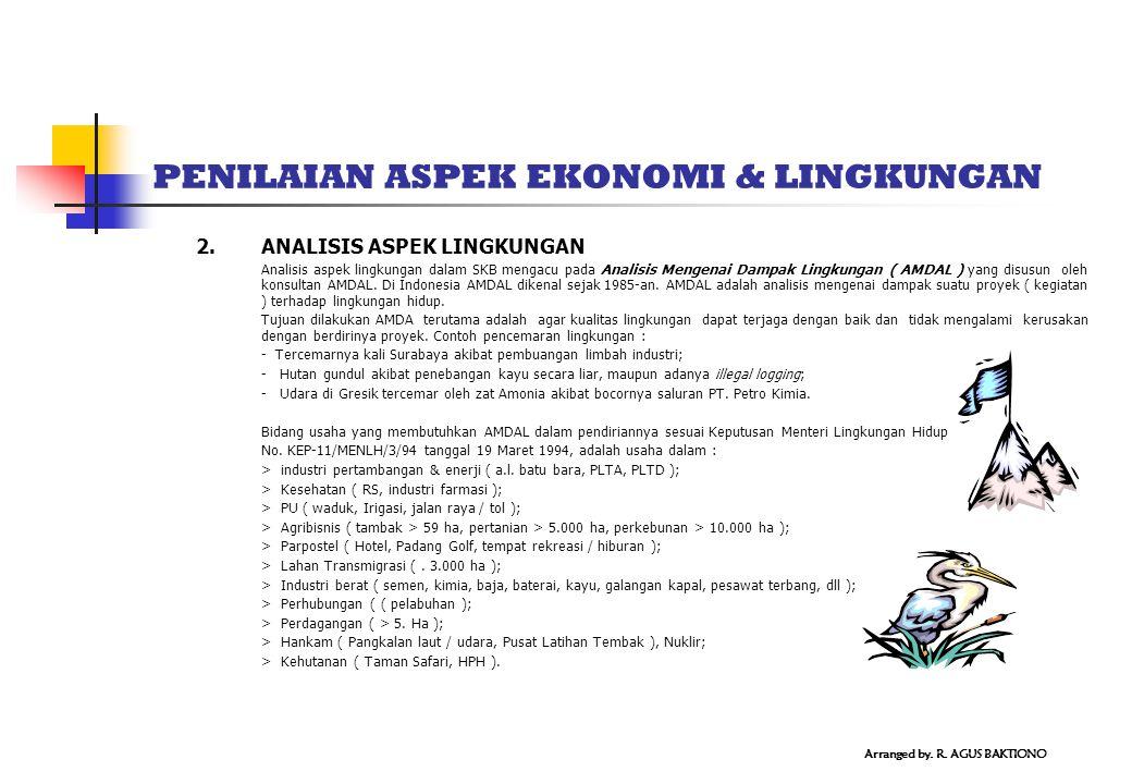PENILAIAN ASPEK EKONOMI & LINGKUNGAN