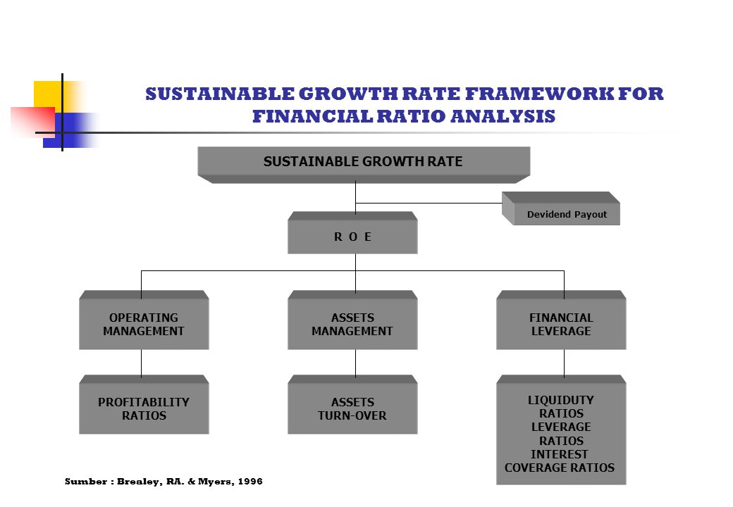 SUSTAINABLE GROWTH RATE FRAMEWORK FOR FINANCIAL RATIO ANALYSIS