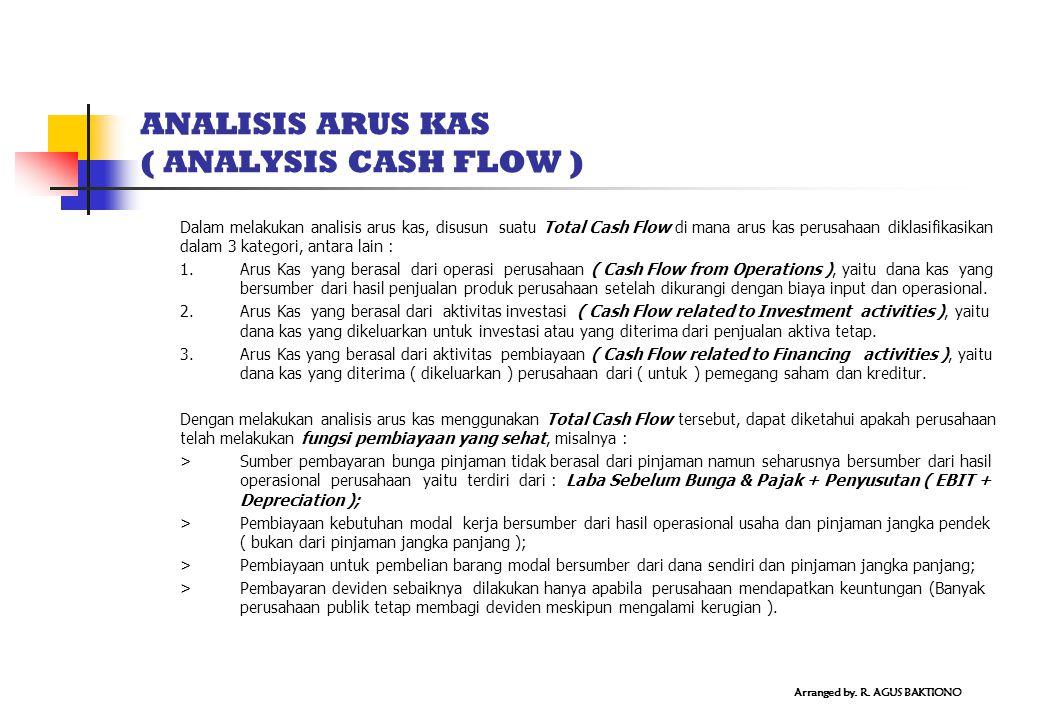 ANALISIS ARUS KAS ( ANALYSIS CASH FLOW )