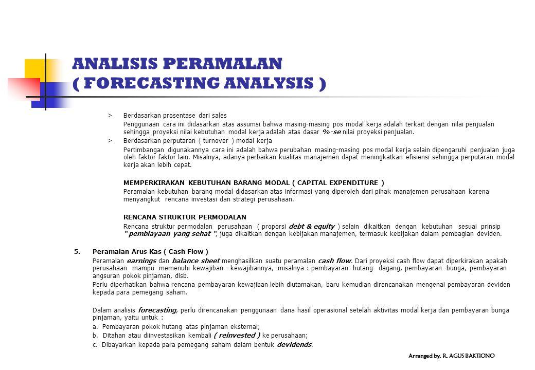 ANALISIS PERAMALAN ( FORECASTING ANALYSIS )