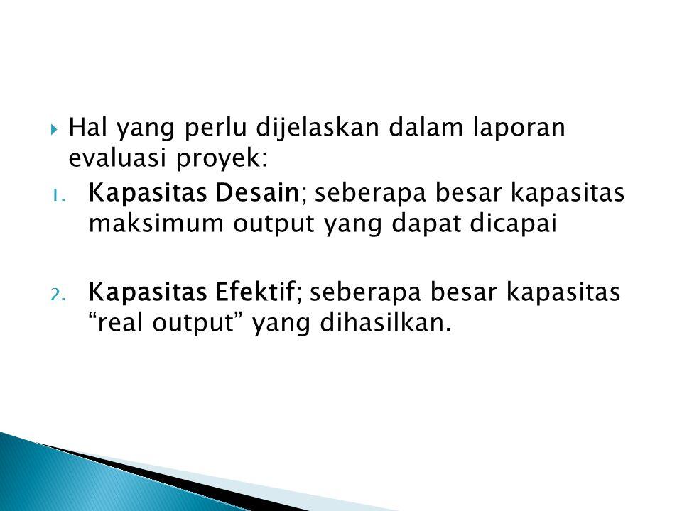 Hal yang perlu dijelaskan dalam laporan evaluasi proyek: