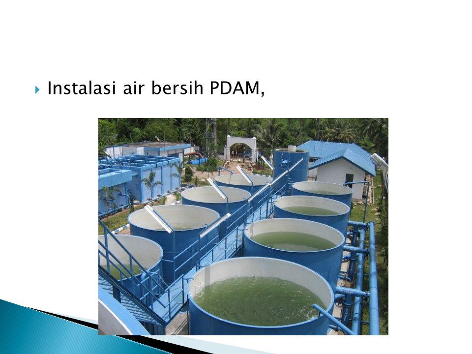 Instalasi air bersih PDAM,