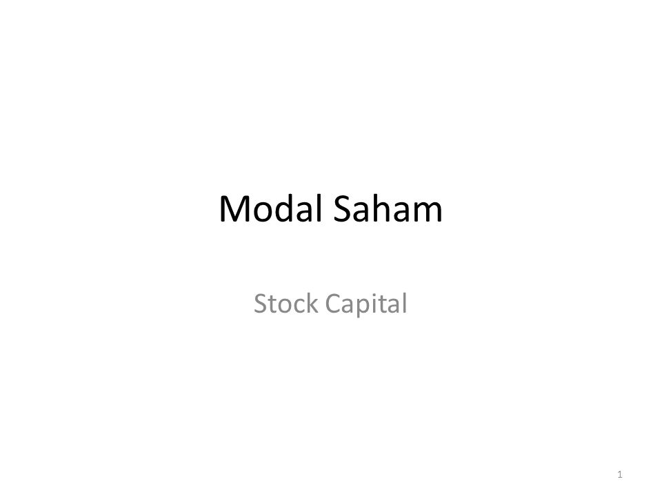 Modal Saham Stock Capital