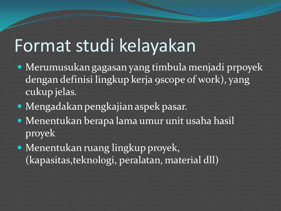 Format studi kelayakan