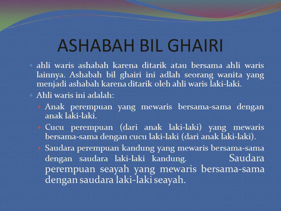 ASHABAH BIL GHAIRI
