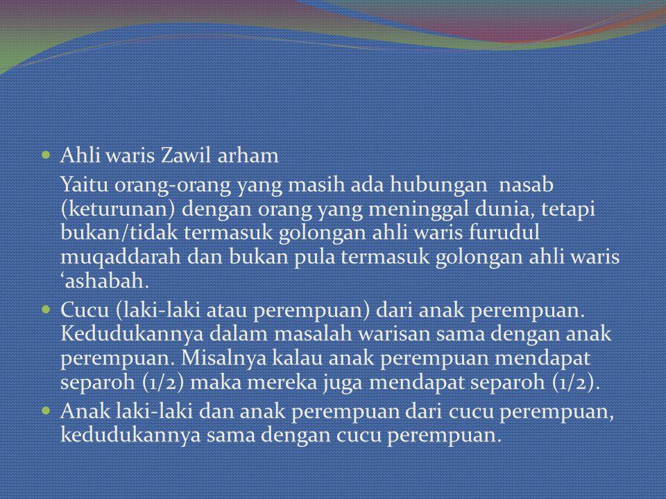 Ahli waris Zawil arham