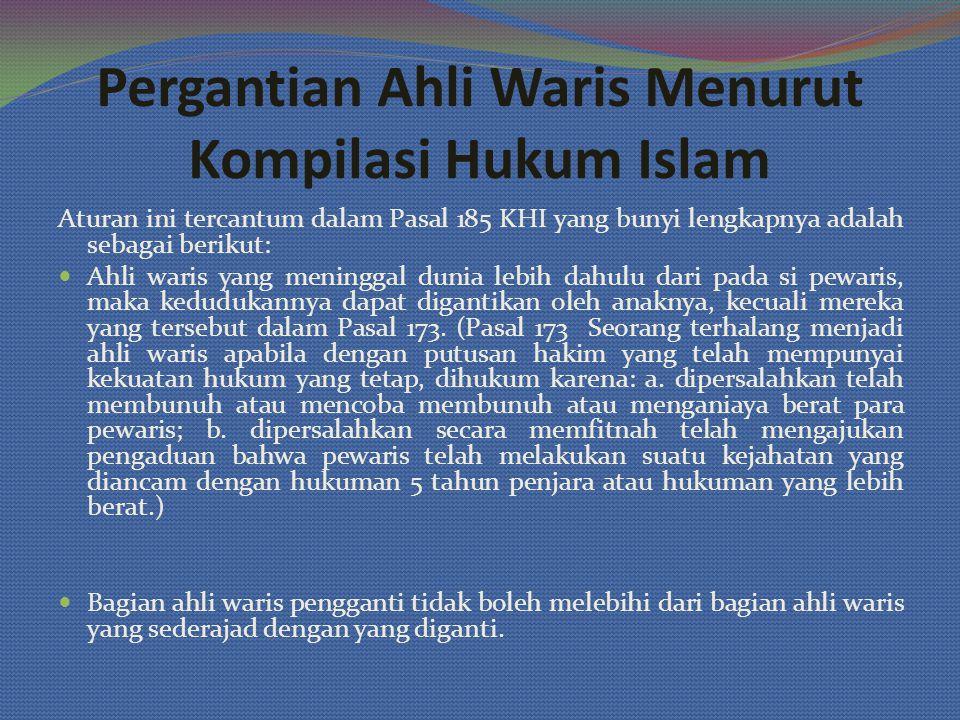 Pergantian Ahli Waris Menurut Kompilasi Hukum Islam