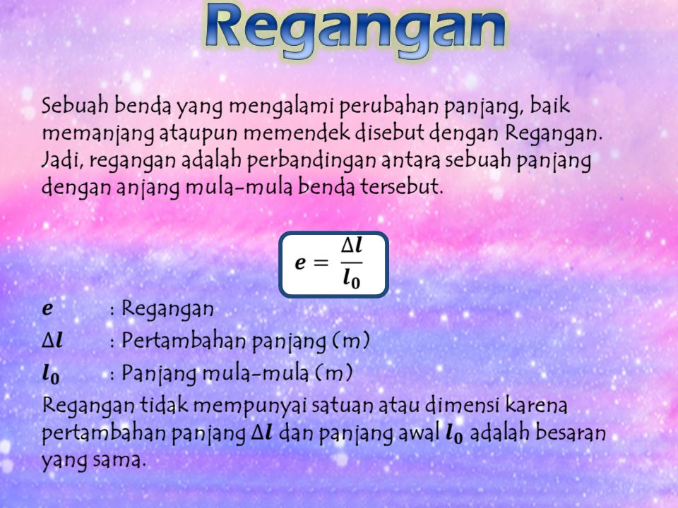 Regangan