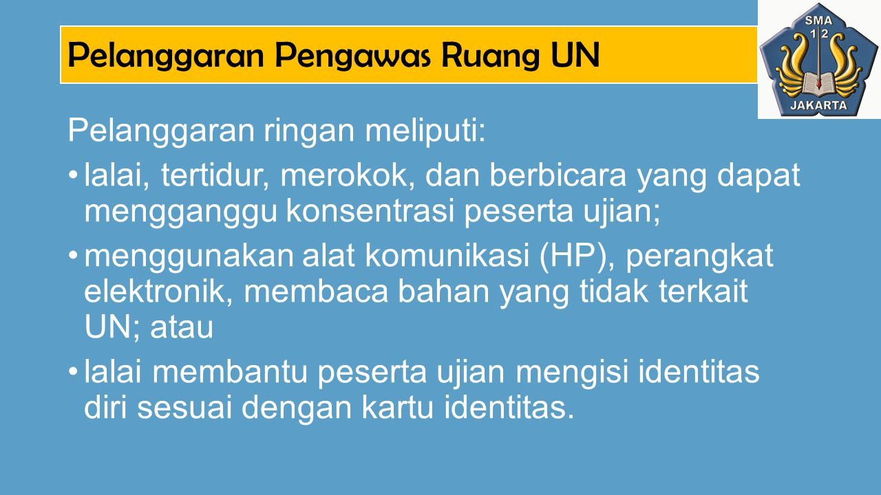 Pelanggaran Pengawas Ruang UN