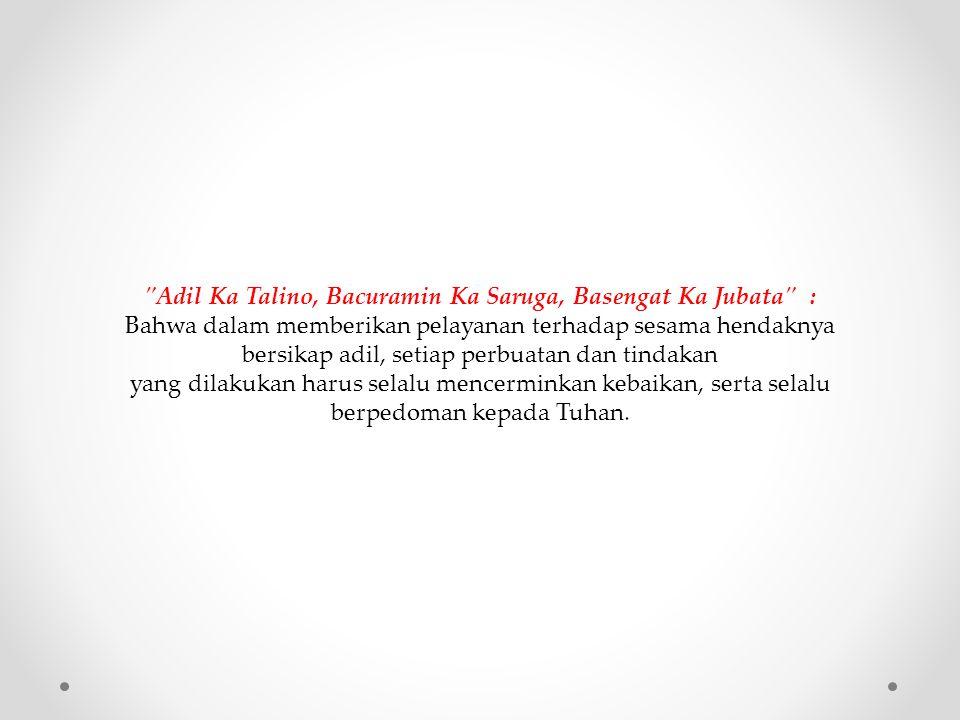 Adil Ka Talino, Bacuramin Ka Saruga, Basengat Ka Jubata :