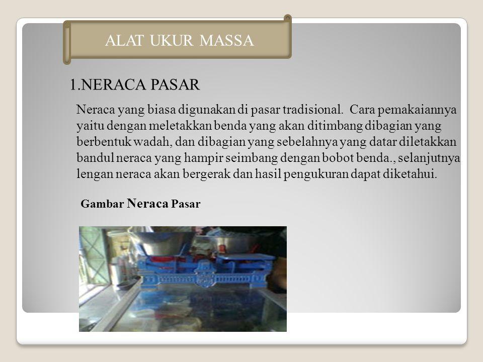 ALAT UKUR MASSA 1.NERACA PASAR