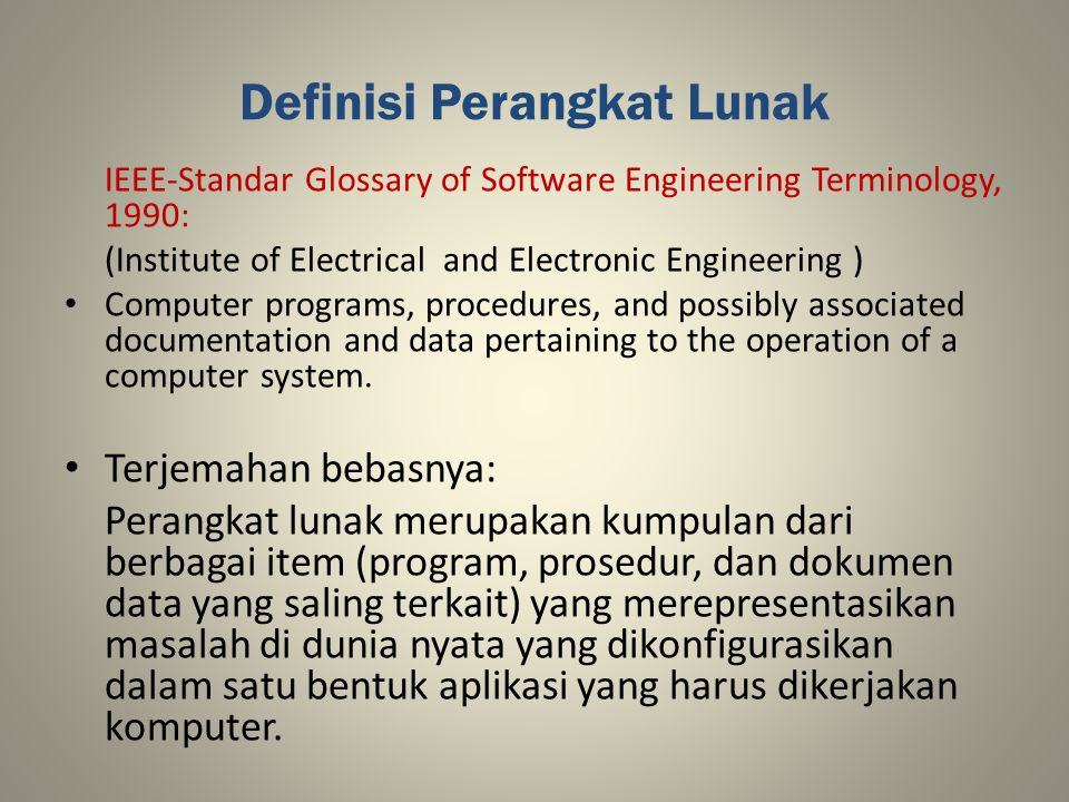 Definisi Perangkat Lunak