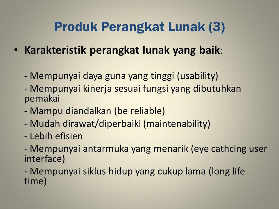 Produk Perangkat Lunak (3)