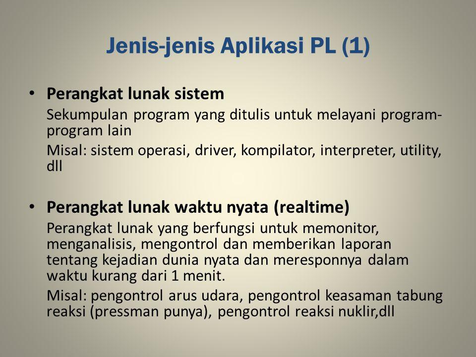 Jenis-jenis Aplikasi PL (1)