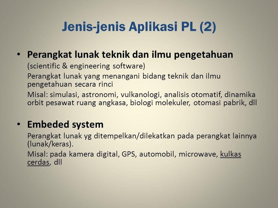 Jenis-jenis Aplikasi PL (2)