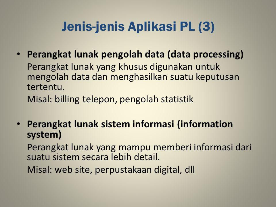 Jenis-jenis Aplikasi PL (3)