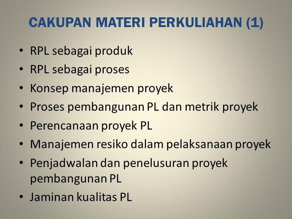 CAKUPAN MATERI PERKULIAHAN (1)