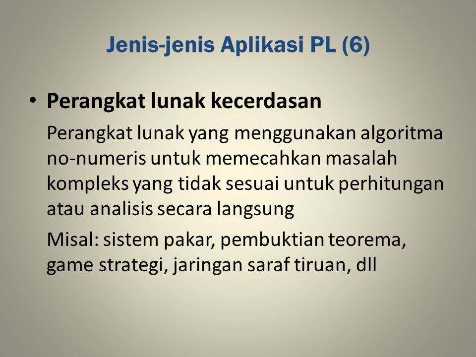 Jenis-jenis Aplikasi PL (6)