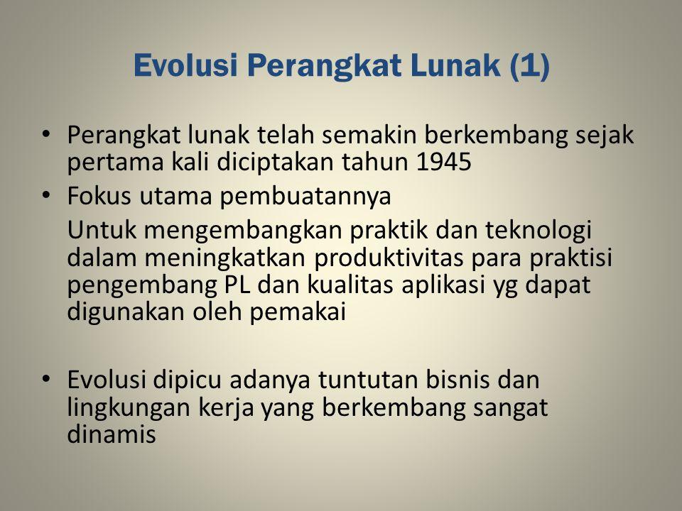 Evolusi Perangkat Lunak (1)