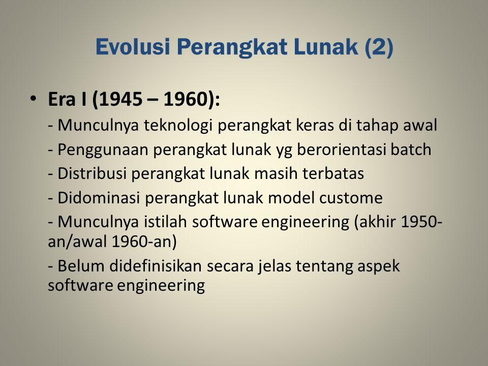 Evolusi Perangkat Lunak (2)