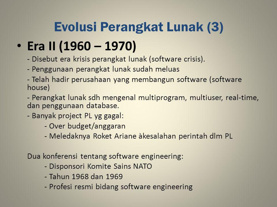 Evolusi Perangkat Lunak (3)