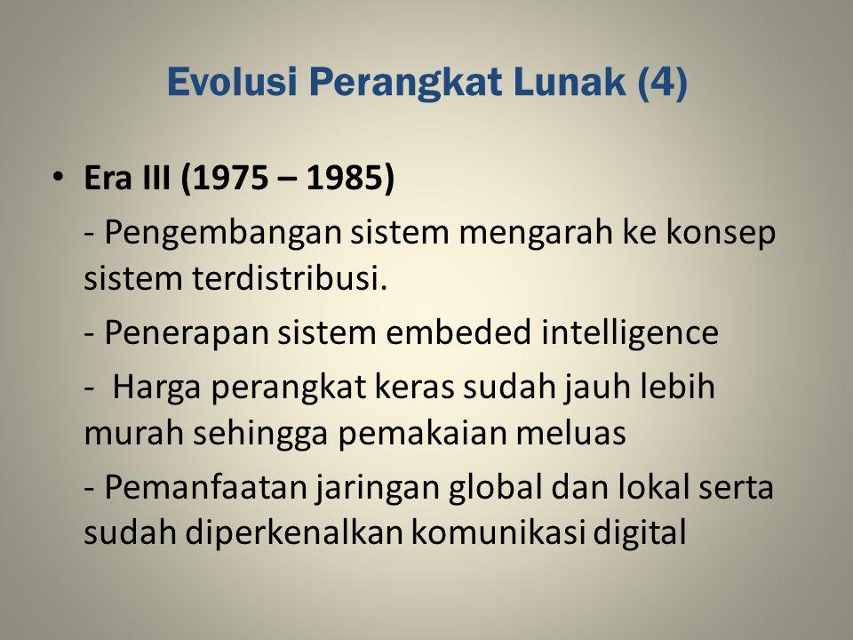 Evolusi Perangkat Lunak (4)