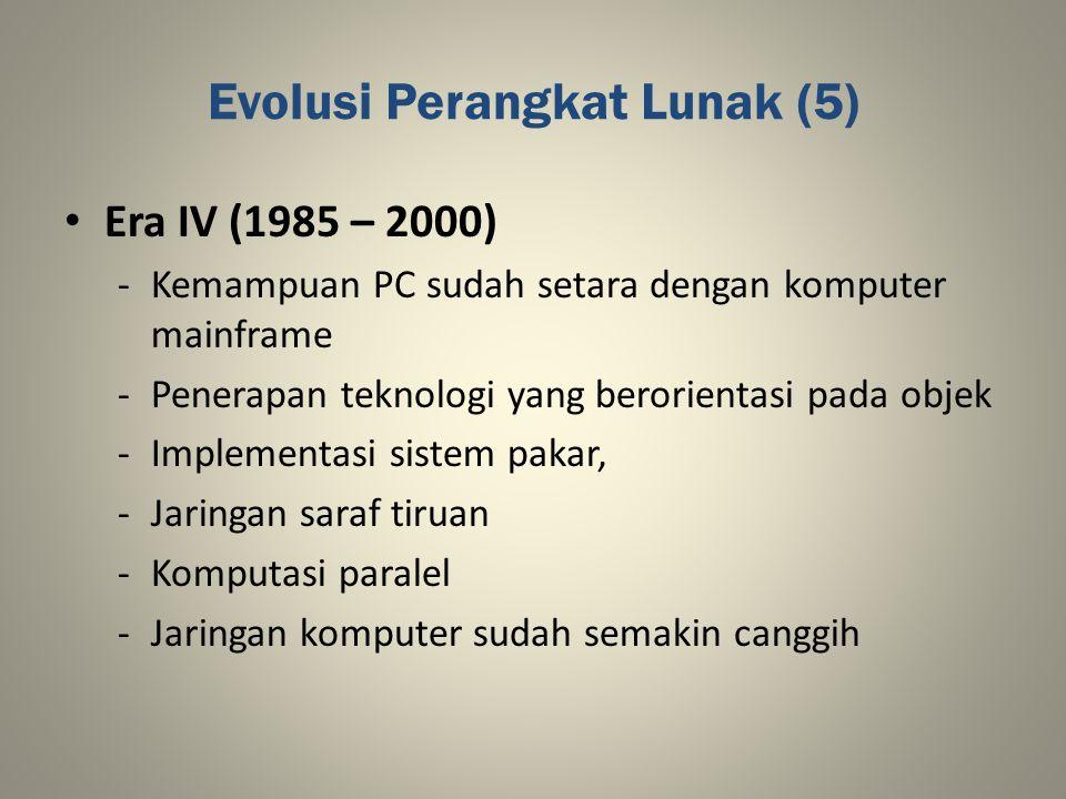 Evolusi Perangkat Lunak (5)