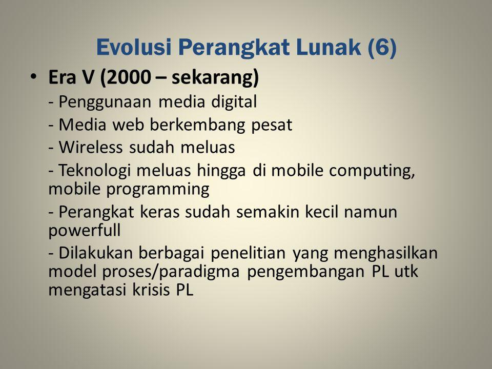 Evolusi Perangkat Lunak (6)