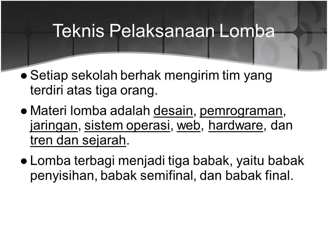 Teknis Pelaksanaan Lomba