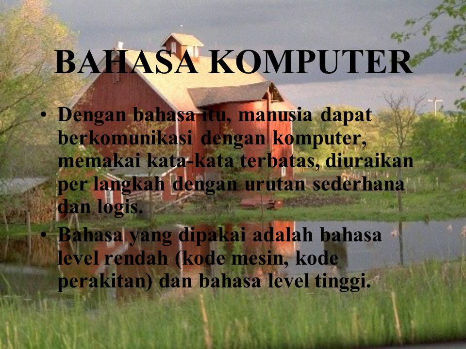 BAHASA KOMPUTER