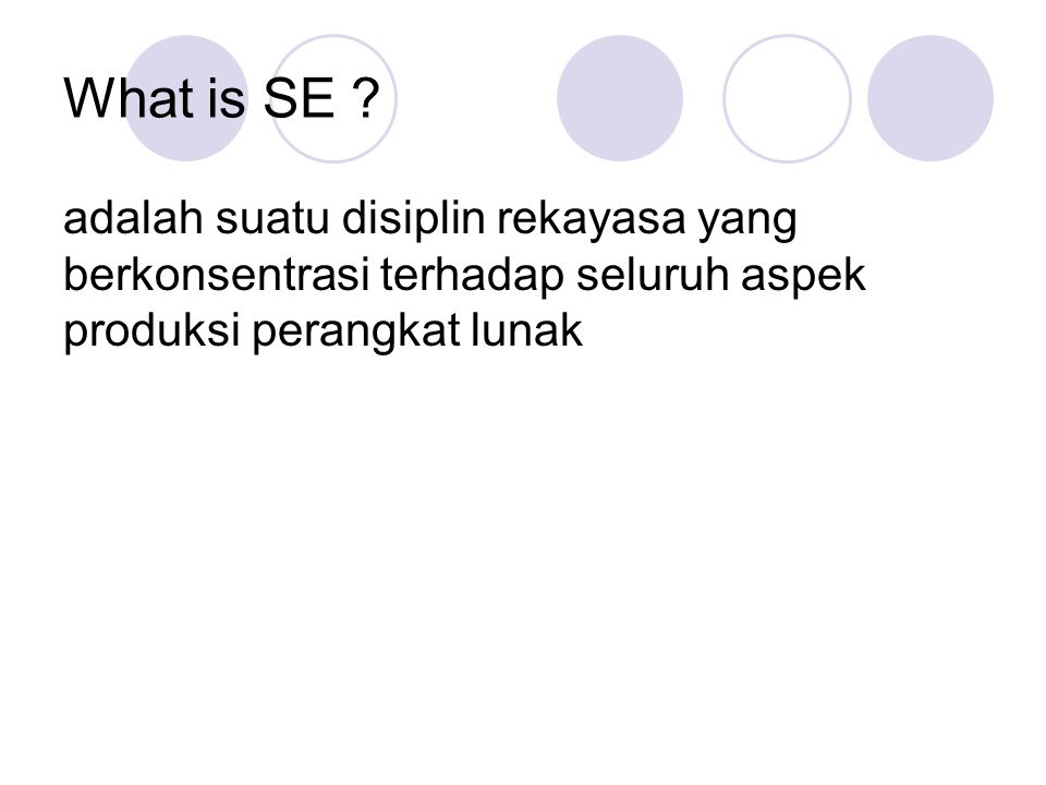 What is SE .