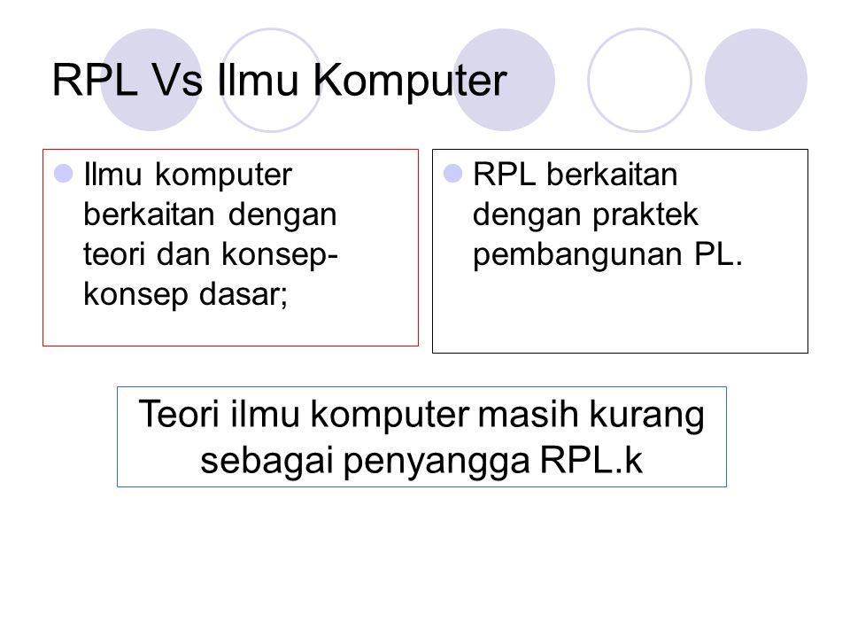 Teori ilmu komputer masih kurang sebagai penyangga RPL.k