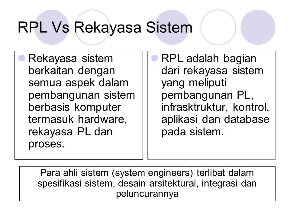 RPL Vs Rekayasa Sistem