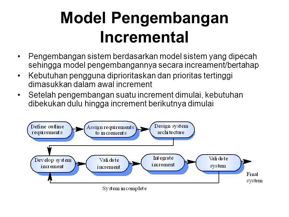Model Pengembangan Incremental
