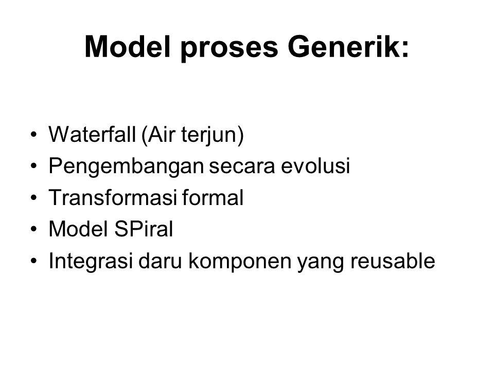 Model proses Generik: Waterfall (Air terjun)