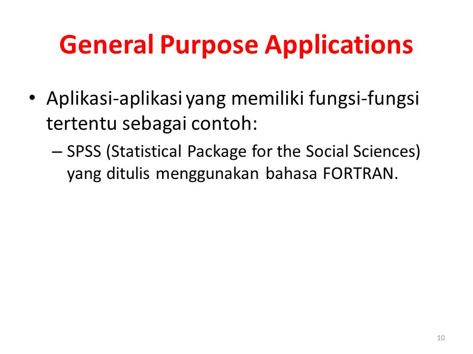General Purpose Applications