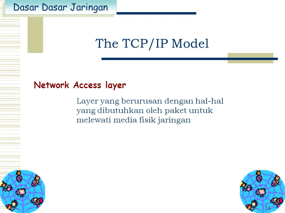 The TCP/IP Model Network Access layer