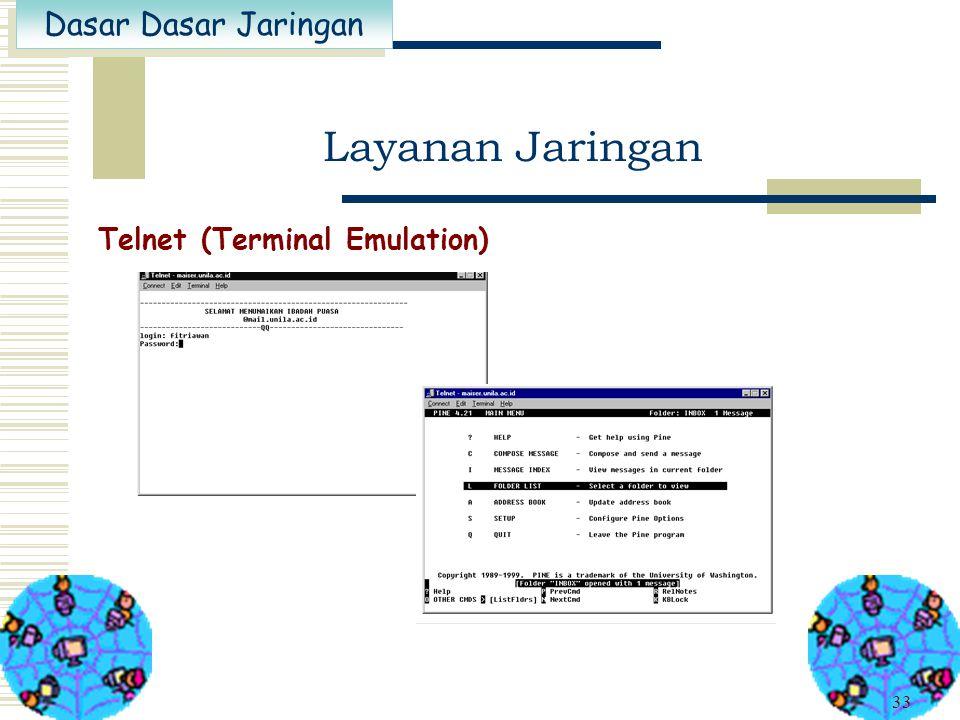 Layanan Jaringan Telnet (Terminal Emulation)