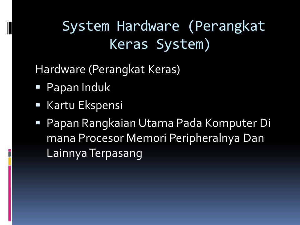 System Hardware (Perangkat Keras System)