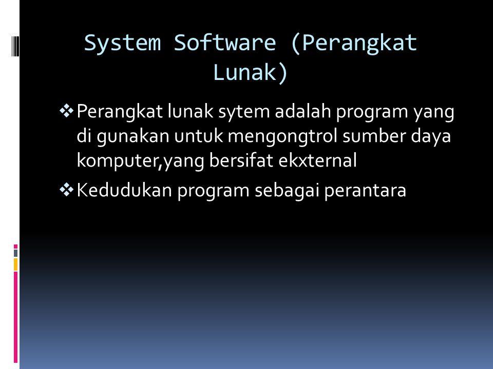 System Software (Perangkat Lunak)