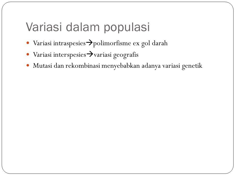 Variasi dalam populasi