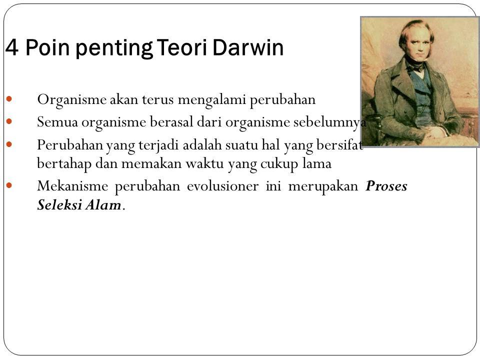 4 Poin penting Teori Darwin