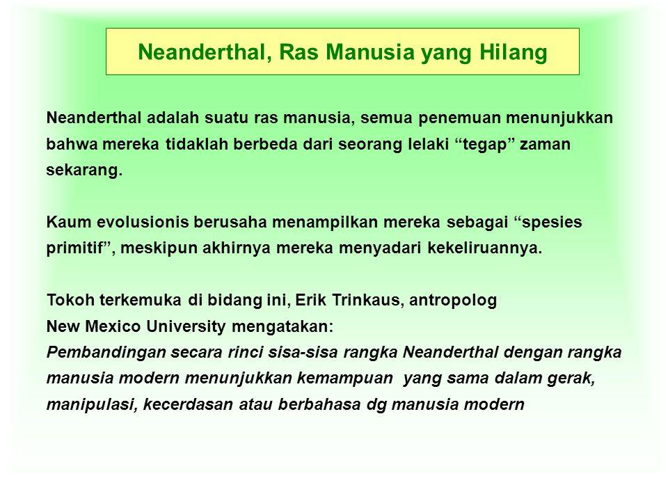Neanderthal, Ras Manusia yang Hilang