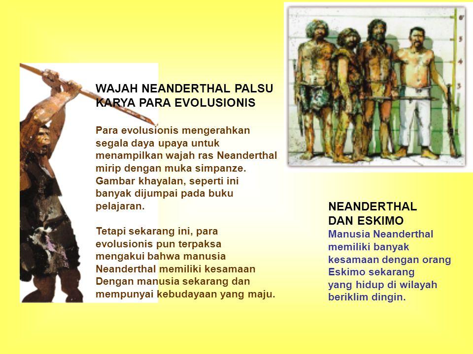 WAJAH NEANDERTHAL PALSU KARYA PARA EVOLUSIONIS